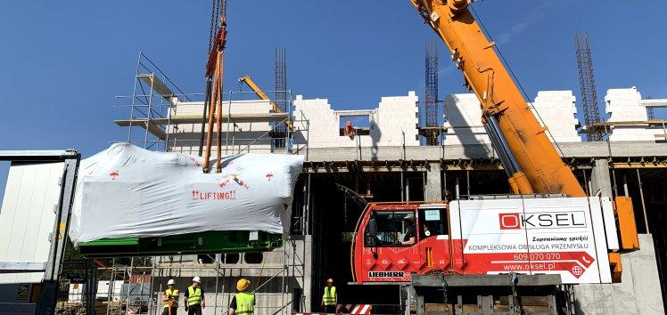Serce nowego źródła kogeneracyjnego MEC Piła (Grupa Enea) dotarło na budowę